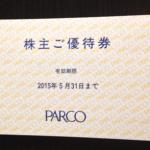 パルコ株主ご優待券の外観